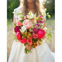 Un bouquet coloré et champêtre
