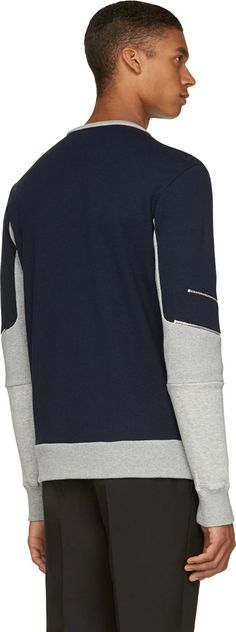 Tim Coppens: Navy Zipper Accent Sweatshirt | SSENSE