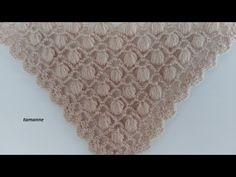 Pérola em relevo Pistachio Knit Shawl Model e Expression - Knitting Models Col Crochet, Crochet Shoes Pattern, Crochet Stitches Patterns, Crochet Shawl, Stitch Patterns, Crocodile Stitch, Crochet Videos, Knitted Shawls, Baby Knitting