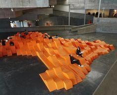 Seating installation in UC Berkeley's art museum, up through April 2012...