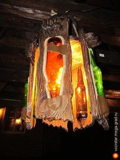 Люстра СТЕКЛОДУВ - изделия из дерева, авторский светильник/лампа для интерьера. МегаГрад - портал авторской ручной работы