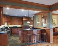 Kitchen Oak Tile Design, Pictures, Remodel, Decor and Ideas - page 14