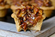 The crust is buttery, the filling is sweet and the pecans are plentiful in these delicious little bites of pecan pie! Thanksgiving is less than a week away and I've got the easiest and most delicio...