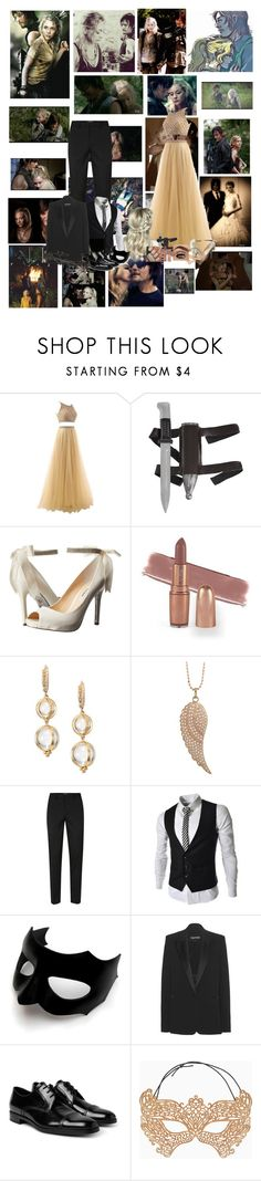 """Bethyl ( Beth and Daryl ) read description"" by karabear3256 ❤ liked on Polyvore featuring By Emily, Nina, Temple St. Clair, Sydney Evan, Topman, Masquerade, Tom Ford, Prada, Episode and BCBGMAXAZRIA"