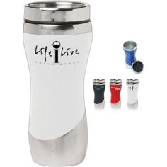 1000 images about double wall plastic mugs on pinterest - Travel mug stainless steel interior ...
