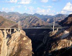Baluarte Bridge, highest suspension bridge in the world, connecting Sinaloa with Durango and Mazatlan.