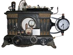 ~ Steampunk Victorian Clock by Amahl Shukup ~
