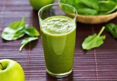zelene smoothie se špenátem a jablky