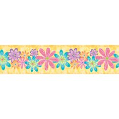 "allen   roth 5"" Flirty Flowers Self Adhesive Wallpaper Border"
