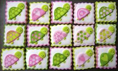 <3Turtle Cookies for a baby shower