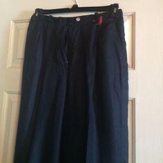 Dark blue linen pants by Ralph Lauren Dark blue linen pants by Ralph Lauren Ralph Lauren Pants Straight Leg