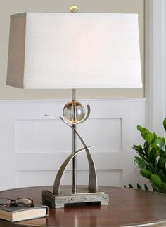 "Uttermost Cortlandt Curved Metal Table Lamp, 27746 by Uttermost Lamps "" FREE Shipping, Large Selection, Low Prices at FineHomeLamps.com."