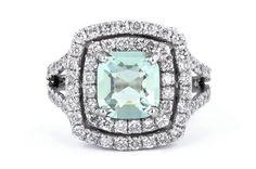 Galacia: Bespoke & Fine Diamond jewellery - Since 1994 Diamond Gemstone, Diamond Jewelry, Bespoke Jewellery, Designer Jewellery, Green Tourmaline, Mint Green, Jewelry Design, Brooch, Engagement Rings