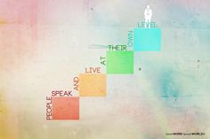 People speak and live at their own level