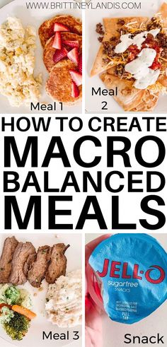 3 Steps to Creating a Macro Balanced Meal - Brittiney Landis How to create macro balanced meals in three simple steps. How to balance carbs, fats, and proteins for weight loss. Meal plans and tips included! Ketogenic Diet Meal Plan, Keto Meal Plan, Diet Meal Plans, Meal Prep, Macros Diet Meal Plan, Diet Menu, Health Meal Plan, Weight Loss Meals, Balanced Meals