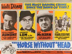 "The Horse Without a Head (1963) Vintage British Movie Poster - 30"" x 40"""