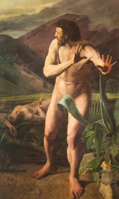 Cain and Abel. 1845 by Mihaly Zichy (Hungarian