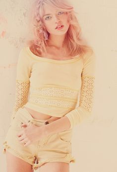 Free People February 2012: Color me Pretty ft. Martha Hunt, photographed by Anna Palma.