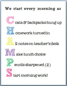 Love this free morning routine poster ~ A visual reminder helps kids prepare to start the day feeling like champs!