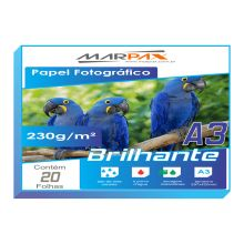 Papel Foto Glossy Paper 230g/m² A4 20 Folhas