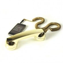 Rock Gold phone attachment for iPhone. - weird, jaden wants this.