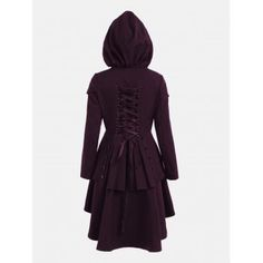 GET $50 NOW   Join Dresslily: Get YOUR $50 NOW!https://m.dresslily.com/layered-lace-up-high-low-hooded-coat-product2236501.html?seid=bC7G1pOdUK0vr8Ajn6S9K6S8tO