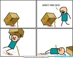 Cyanide and Happiness - Free Box Stupid Funny, Funny Cute, Really Funny, Hilarious, Funny Stuff, Stupid Human, Funny Things, Funny Cartoons, Funny Comics