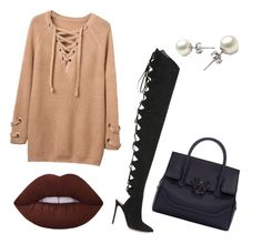 """""""Cool For The Winter."""" by becca081899 on Polyvore featuring Alexandre Vauthier, Lime Crime and Versace"""