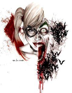 Harley Quinn & Joker by Eric Basaldua