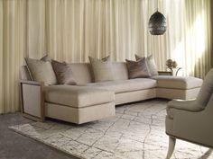 The Aloysius sectional by @barrydixon the perfect perch for reading. #sofa #upholstery #HPMkt