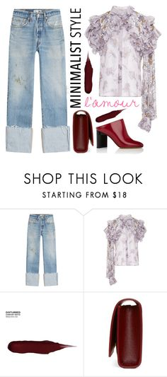 """""""TURN UP PANT"""" by erindream ❤ liked on Polyvore featuring RE/DONE, Rodarte, Urban Decay, Yves Saint Laurent and Maison Margiela"""