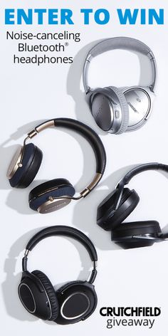 Enter to win 1 of 12 BT Noise-Cancelling headphones that Crutchfield is giving away