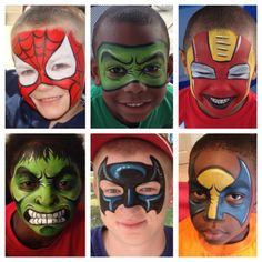 Hero Masks face painting ideas - get your supplies here http://shop.vibesandscribes.ie/
