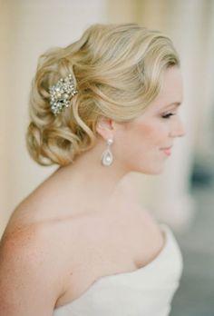 Classic Chignon Wedding Hairstyle