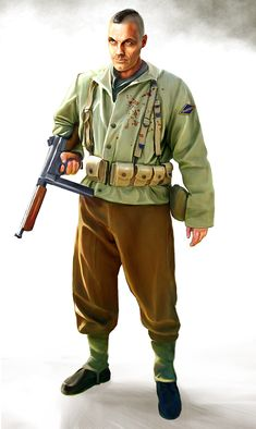 World War II American Army Ranger. Trained to raid nazi super-science and occult plots.