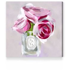 Oliver Gal 'Rose Candle' Canvas Wall Art (€98) ❤ liked on Polyvore featuring home, home decor, wall art, grey, canvas wall art, rose wall art, canvas home decor, rose canvas wall art and grey home decor