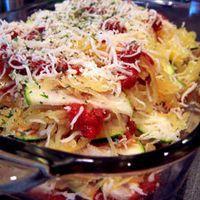 Zucchini and Spaghetti Squash Lasagna by greenlitebites.com