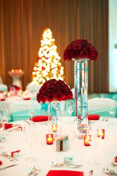 Love these centerpieces