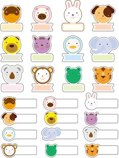 Cute Icons (Online Game) by Subcutaneo Creative Studio, via Behance Book Labels, Printable Labels, Printable Planner, Planner Stickers, Printables, Owl Classroom, Classroom Crafts, School Name Labels, Planner Writing