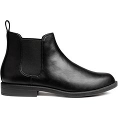 Chelsea boots (135 PEN) ❤ liked on Polyvore featuring shoes, boots, ankle booties, beatle boots, chelsea boots, rubber sole booties, vegan booties and vegan boots