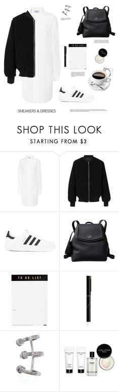 """Sneakers and Dresses"" by barngirl ❤ liked on Polyvore featuring Acne Studios, adidas, adidas Originals, Kate Spade, kikki.K, Shay and Bobbi Brown Cosmetics"