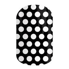 Black & White Polka - This classic design features white polka dots on a solid black background. #BLACKWHITEPOLKAJN
