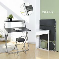 wooden folding portable office laptop desk for study dorm room