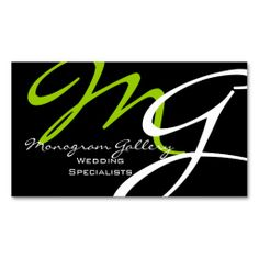 monogram white red color chubby business card colors monograms