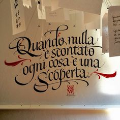 Luca Barcellona - Calligraphy on wall.