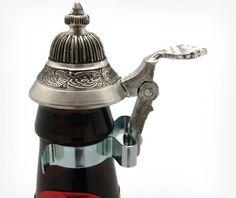 Mini Pewter Stein Beer Bottle Attachment