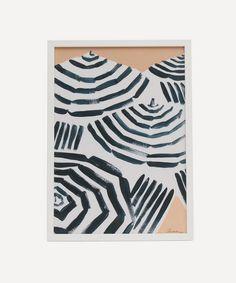 Chiara Perano - A3 Framed Beach Print Framed Fabric, Framed Art Prints, Framed Artwork, Christmas In Australia, Beach Frame, Dark Ink, Beach Print, Hand Painting Art, Wall Art Designs