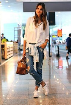awesome Casual and Pretty Look with These 40+ White Sneaker Outfits