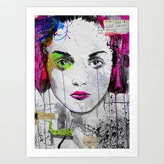 do you want me to want you ? Art Print by LouiJoverArt - $22.88