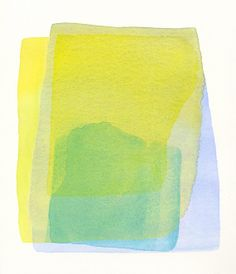 original abstract watercolor painting reservoir by malissasplace, $300.00